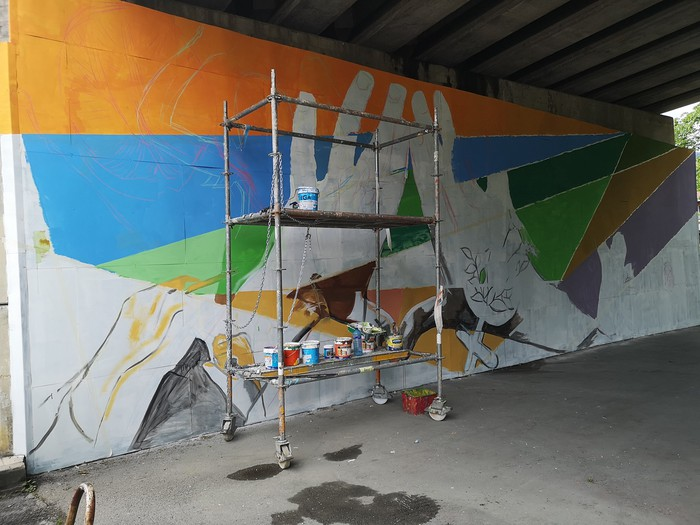 Berdintasunaren aldeko murala ia bukatu dute herritarren parte hartzeari esker - 8