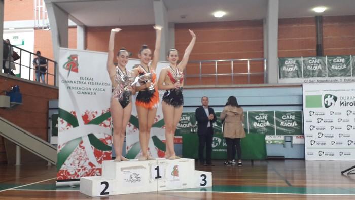 Domina ugarirekin Aresketako gimnastak Euskadiko Txapelketatik - 5
