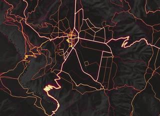 Eskualdeko biderik erabilienak ekarri dituzte argitara mapa batean