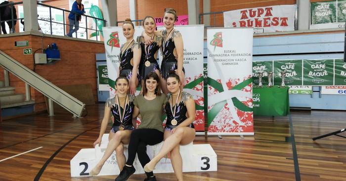 Domina ugarirekin Aresketako gimnastak Euskadiko Txapelketatik - 3