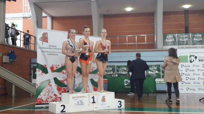Domina ugarirekin Aresketako gimnastak Euskadiko Txapelketatik - 4