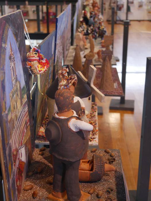 ONCE erakundearen omenezko lana jarri dute Santxotena Museoko Munduko Belenen Erakusketan - 47