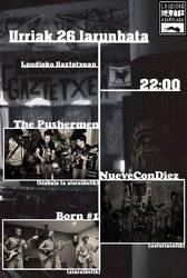 The Pushermen, NueveConDiez eta Born#1 taldeak Laudioko Gaztetxean larunbat honetan!