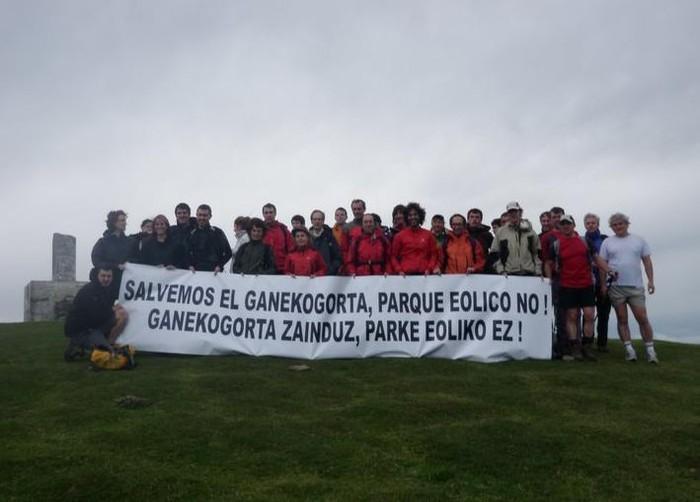 6 Udalerrik bat egin dute Bizkaiko Aldundiarekin eta  Ganekogortako zentral eolikoaren kontrako jarrera plazaratu dute