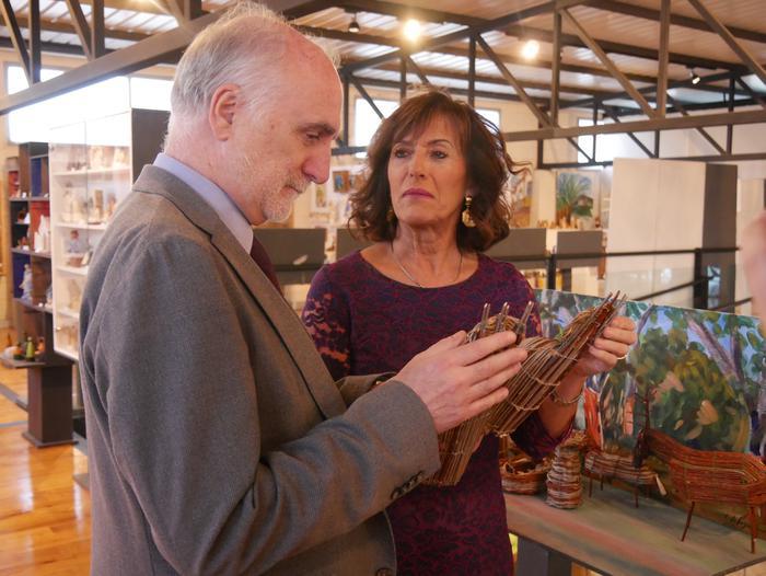 ONCE erakundearen omenezko lana jarri dute Santxotena Museoko Munduko Belenen Erakusketan