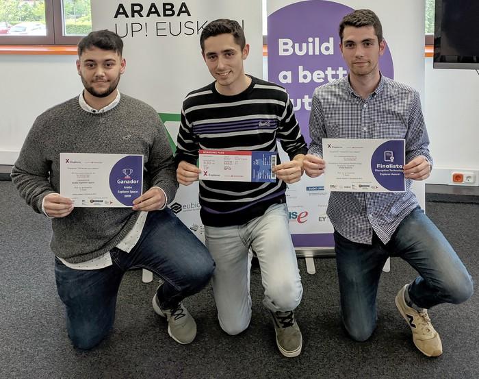 Laudioko 3 gaztek irabazi dute Explorer Araba programaren saria