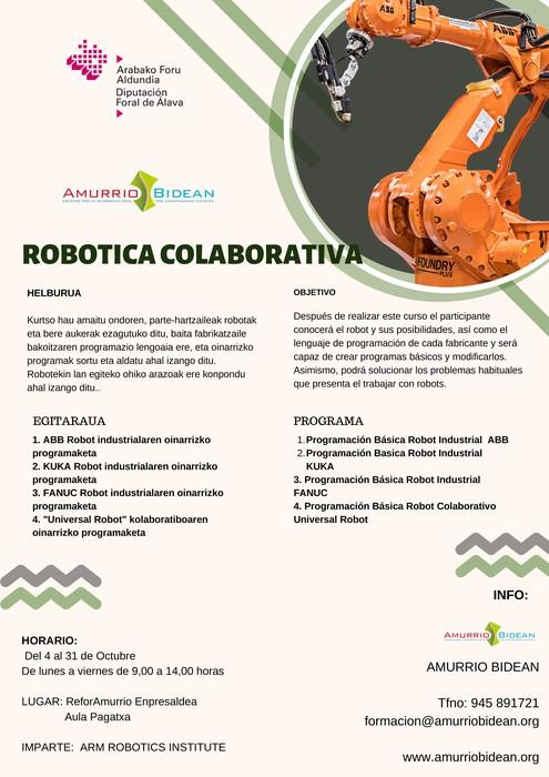 Robotika industrial eta kolaboratibo kurtsoa hasiko da ostiralean