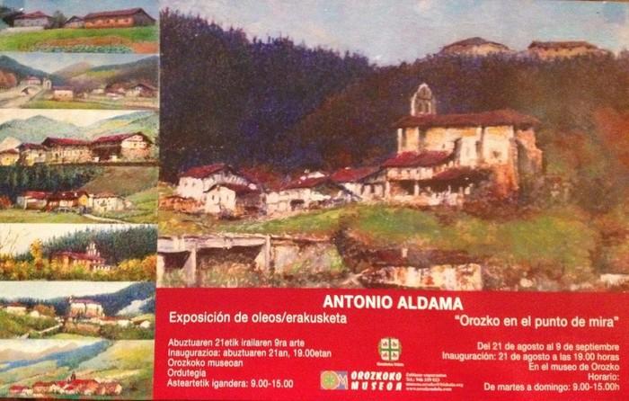 Orozkoko paisaiak Antonio Aldama pintorearen erakusketan