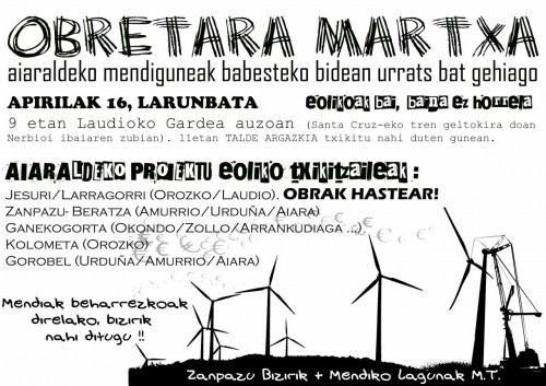 """Zapazu Bizirik: """"Jesuri eta Ganekogortako zentral eolikoak ez dira beste energiekiko alternatibak"""" - 2"""