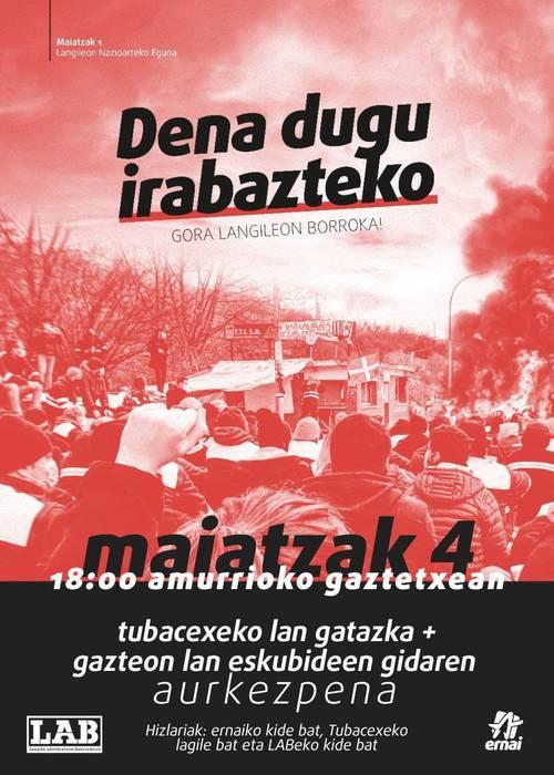 Hitzaldia: Tubacexeko lan gatazka eta 'Lan eskubideen gida'