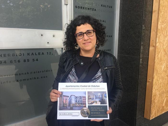 Macri Garciak lortu du Urduña apartamentuan gau bateko egonaldiaz gozatzeko aukera