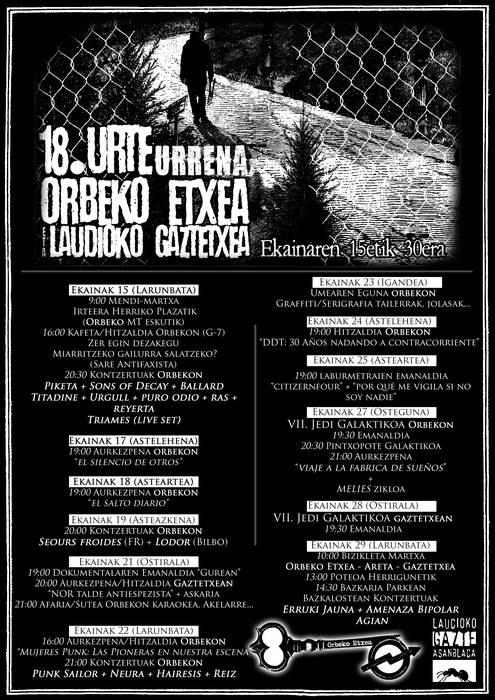 Orbekok eta Gaztetxeak 18 urte: Larunbata