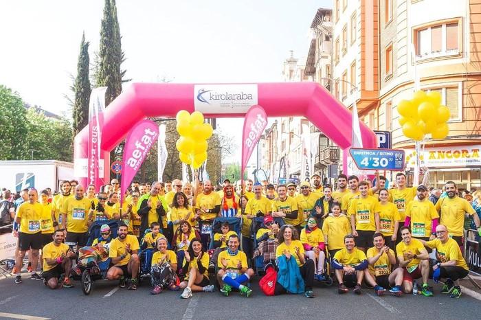 Abel Fernandez eta Ustaritz Zabalondo ataxia telangiectasia duten umeekin egon ziren Martín Fiz maratoian - 3