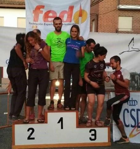 Ibone Sanchez eta Aaron Garmendia anai-arrebek irabazi zuten Espainiako Orientazio Txapelketa