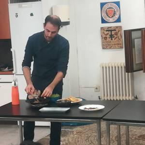 Gastronomia erakustaldia Zigor jatetxeko Iñigo Otaolarekin