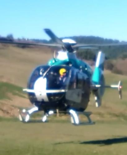 Motor gidari batek istripua izan du Añesen eta helikopteroak eraman du