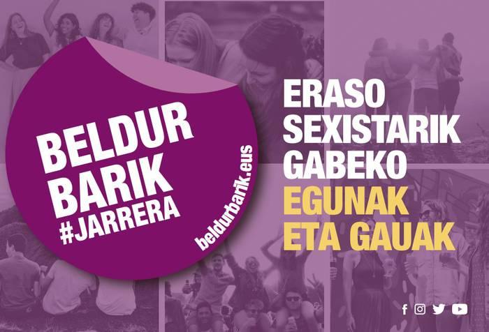 """Orozkok """"Uda Beldur Barik"""" kanpainarekin bat egiten du, gazteak eraso sexisten aurka sentsibilizatzeko asmoz"""