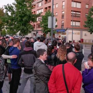 Guardia Zibilaren kuartelaren pareraino eraman dute Altsasuko gazteen aldeko aldarria