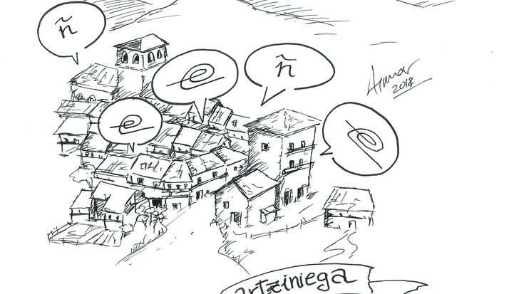 Aiaraldeko euskararen historia: I. Artziniega eta Aiaraldeko mendebaldea, euskararen eta gaztelaniaren arteko muga
