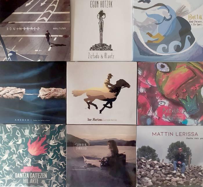 Euskal Herriko musikarien 9 diskoz osatutako bilduma
