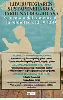 Hastear dago Liburutegia Sustatzeko Jardunaldien 10. edizioa