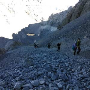 Monte Perdidon aritu dira Matxinkorta mendi taldeko kideak