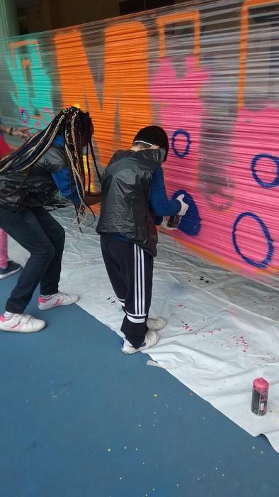 Graffiti tailerra burutu dute Lamuza Ikastetxean - 6