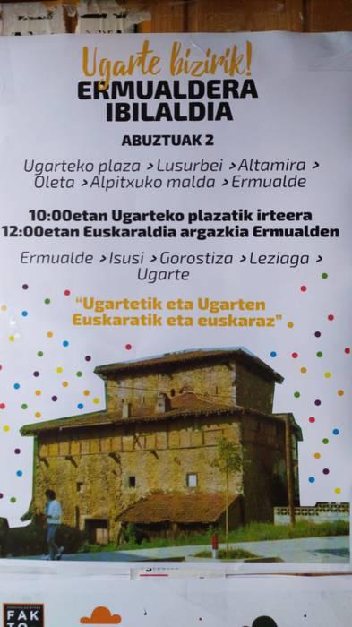Ugarte bizirik! Euskaraldiaren aldeko argazkia