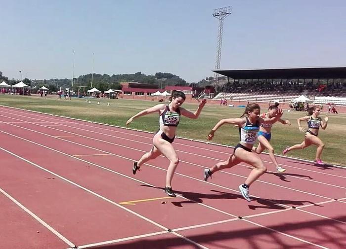 Naiane Bravo Llamosas atleta, 100 metrotan Espainiako txapeldun