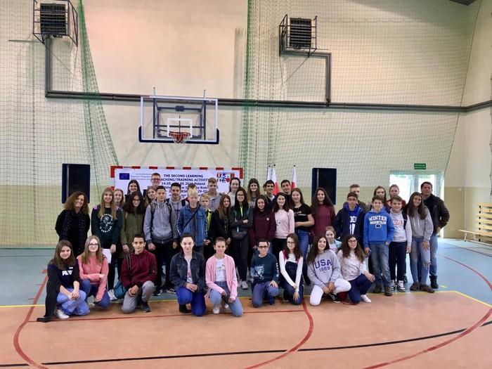 Polonian daude Laudio BHIko zenbait ikasle, Erasmus+ programarekin  - 2