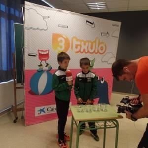 """ETBko """"3txulo"""" saioan parte hartu dute Laudio Ikastolako ikasleek"""
