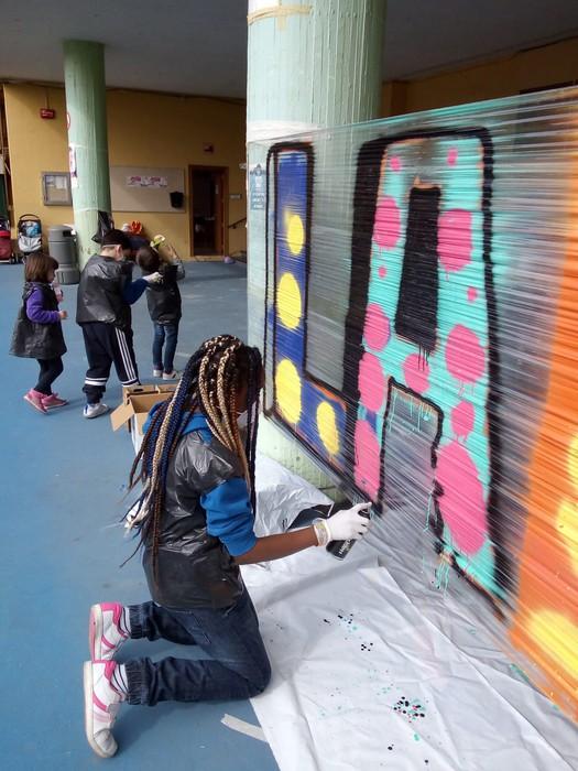 Graffiti tailerra burutu dute Lamuza Ikastetxean - 2