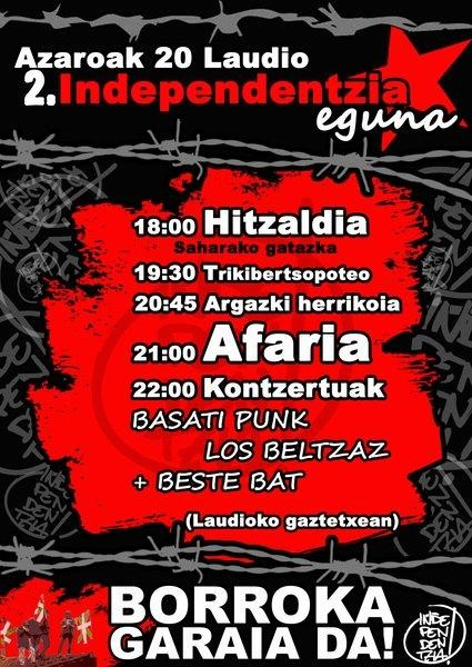Independentzia eguna antolatu dute Aiarako Gazte Independentistek