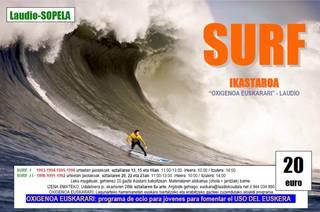 Gazteentzako surf ikastaroa euskarari oxigenoa emateko