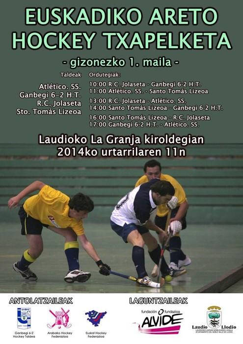 Euskadiko Areto Hockey Txapelketa Laudion jokatuko da
