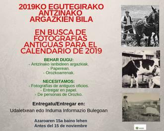 2019ko egutegirako antzinako lanbideen argazkien bila dago udala