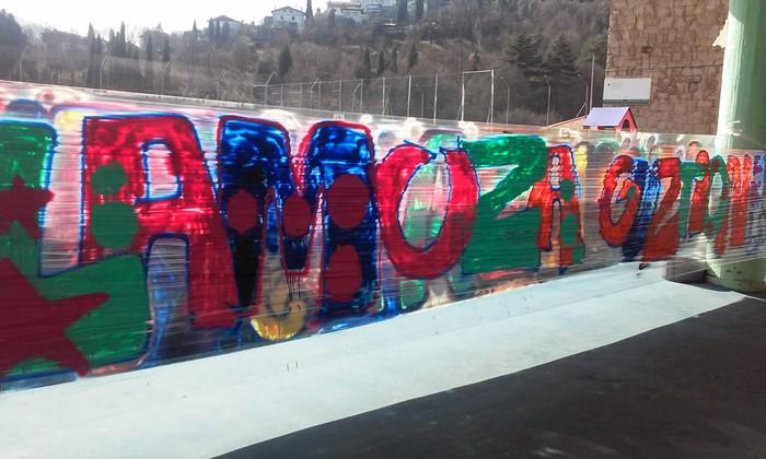 Graffitia egin zuten atzo Lamuza Ikastetxean - 3