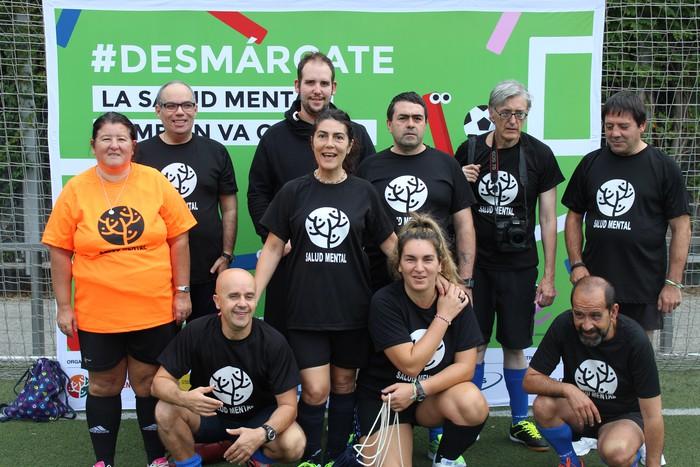 Madrilen egon dira ASASAMeko kideak buru osasunari buruzko futbol txapelketa batean