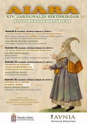 Bisita gidatu bat eta hainbat hitzaldi egingo dira Aiarako XIV. Historia Jardunaldietan