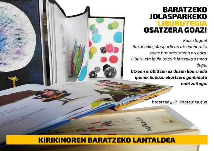 Baratzeko jolasparkeko liburutegia osatzera goaz!