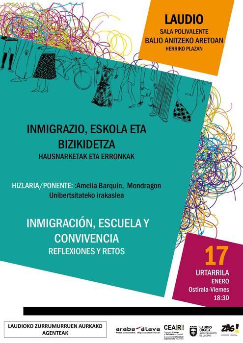 Hitzaldia: Inmigrazioa, eskola eta bizikidetza