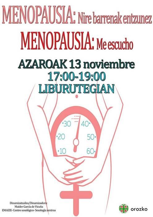 Menopausiari buruzko hitzaldia