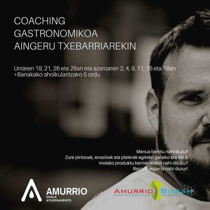 Amurrioko Udalak coaching gastronomikoa antolatu du  Aingeru Etxebarria sukaldariarekin, ostalariei zuzenduta