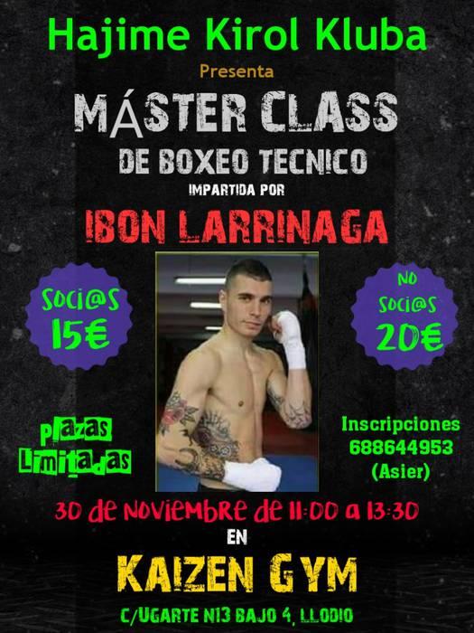 Ibon Larrinagaren master class
