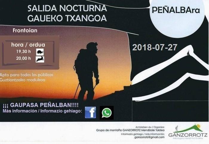 Peñalbara gaueko txangoa