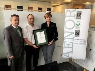 Orozkok jaso du AENORen ISO 50001 ziurtagiria energia kontsumo jasangarriaren alde egiteagatik