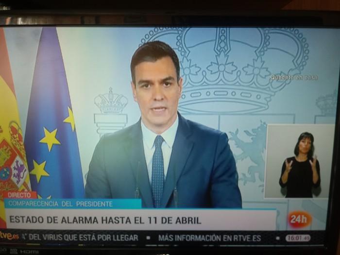 [AZKEN ORDUKOA] 15 egun gehiago luzatuko du alarma egoera Espainiar estatuak eta neurri gehiago hartuko ditu