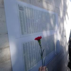 Frankismoak fusilatutako biktimak omendu zituzten atzo Valladoliden, Angel Egaña gudaria barne