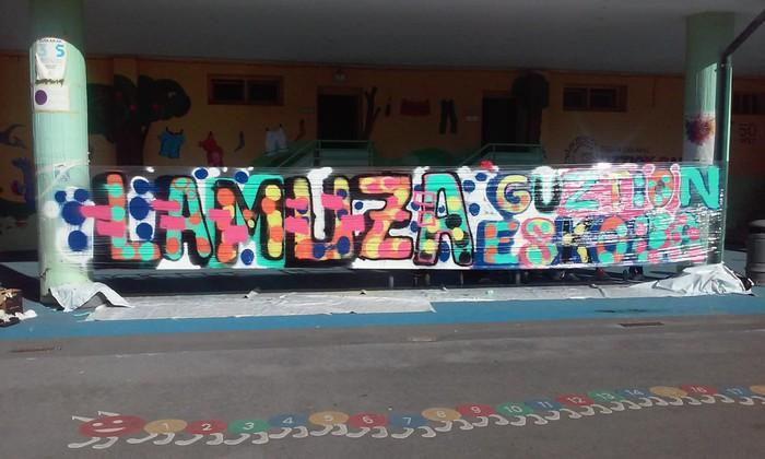 Graffitia egin zuten atzo Lamuza Ikastetxean - 6