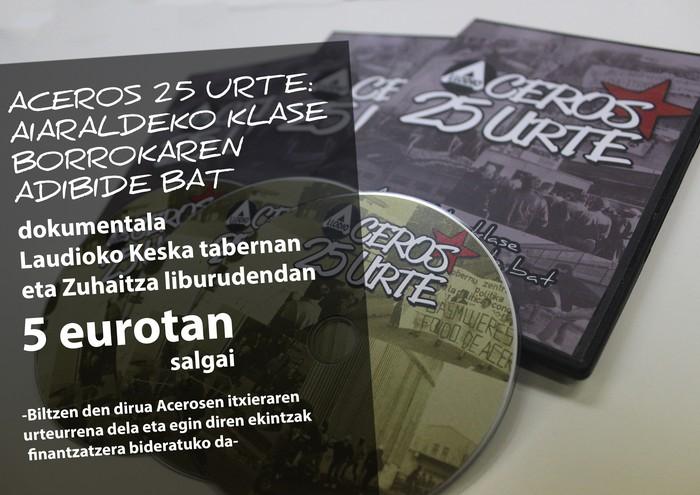 """""""Aceros 25 urte"""" dokumentalaren DVDa salgai"""